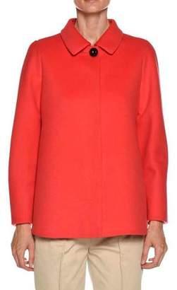 Giorgio Armani One-Button Wool-Cashmere Swing Jacket