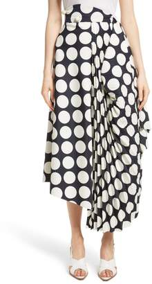Awake Giant Polka Dot Pleated Skirt