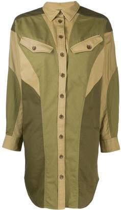 Etoile Isabel Marant oversized colour-block shirt