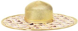 Missoni Mare Woven metallic wide-brimmed hat