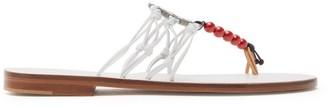 Álvaro González X Kim Hersov Kima Leather Sandals - Womens - White