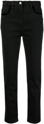Etro slim-fit velvet trim jeans