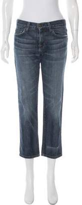 Current/Elliott Mid-Rise Straight-Leg Boyfriend Jeans
