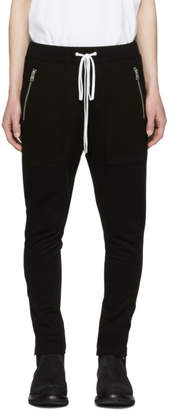Diet Butcher Slim Skin Black Distortion Seams Lounge Pants