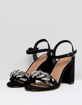Asos DESIGN Hawk chain block heeled sandals