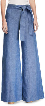 Alexis Belvia Belted Wide-Leg Pants