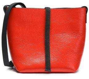 Brunello Cucinelli Bead-embellished Patent-leather Shoulder Bag