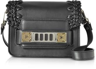 Proenza Schouler PS11 Black Smooth Leather Crossbody Bag w/Crochet