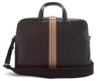 Paul Smith Signature Stripe Leather Briefcase - Mens - Black
