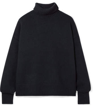 The Row Pheliana Oversized Cashmere Turtleneck Sweater - Navy
