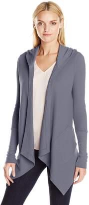 Splendid Women's Thermal Wrap Hooded Cardigan