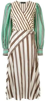 Anna October striped wrap dress