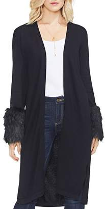 Vince Camuto Faux-Fur Cuff Duster Cardigan
