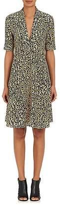 Derek Lam Women's Leopard-Print Silk Crêpe De Chine A-Line Dress