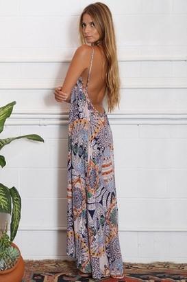 Flynn Skye Scoop Back Maxi Dress in Mind Blown $165 thestylecure.com