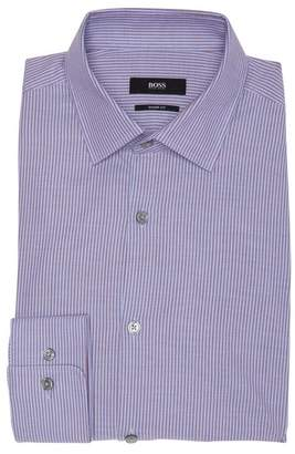 BOSS Vertical Stripes Sharp Fit Dress Shirt