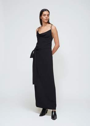 Gareth Pugh Crepe Backless Wrap Dress