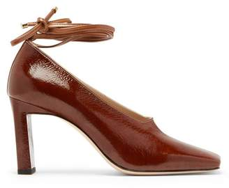 Wandler Isa Bi Colour Patent Leather Pumps - Womens - Brown Multi