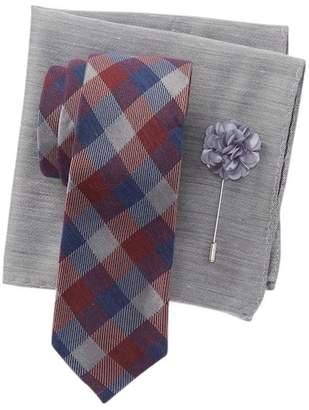 Ben Sherman Leonard Tie, Pocket Square & Lapel Pin Set