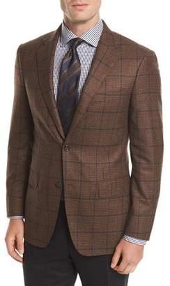 Canali Windowpane Wool Two-Button Sport Coat