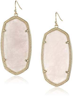 "Kendra Scott Signature"" Danielle Gold plated Rose Quartz Drop Earrings"