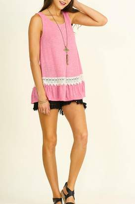 Umgee USA Marled Sleeveless Top
