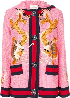 GG Web tweed dragon jacket
