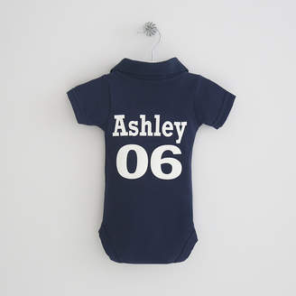 My 1st Years Personalised Navy Polo Bodysuit