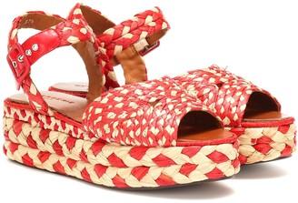 Clergerie Artemis raffia platform sandals