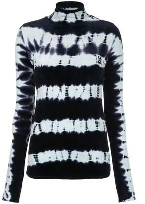 Proenza Schouler Turtleneck Velvet Tie Dye Sweater