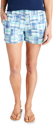Vineyard Vines 3 1/2 Inch Madras Patchwork Every Day Shorts