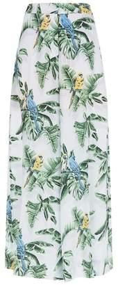 Stella McCartney Wide Leg Silk Trousers