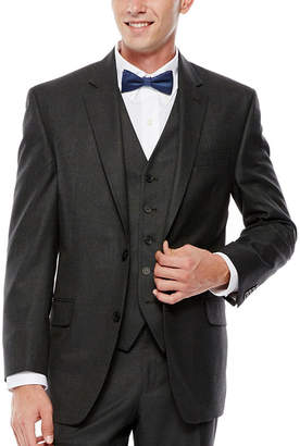 Izod Gray Sharkskin Suit Jacket - Classic Fit