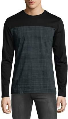 Antony Morato Men's Contrast Long-Sleeve Shirt