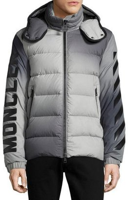 Moncler Enclos Ombré Hooded Puffer Jacket, Gray $1,980 thestylecure.com