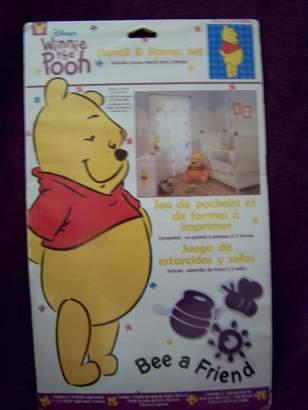 Disney Winnie the Pooh Bee a Friend Stencil & Stamp Set for Nursery Child Room Decor Walls Furniture