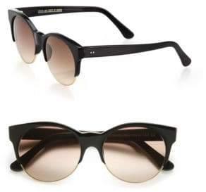 Cutler and Gross Half-Rim 52MM Cat Eye Sunglasses