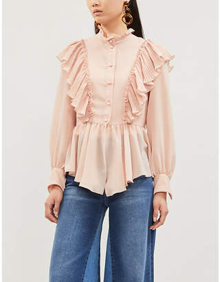 See by Chloe Ruffled crepe blouse