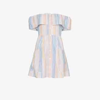 Reformation 'Landy' off the shoulder linen dress
