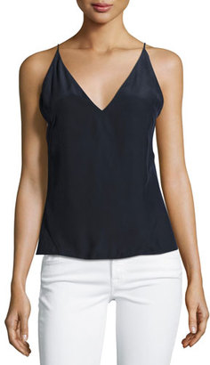 J Brand Lucy Silk Camisole Top, Navy $128 thestylecure.com