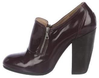 Dries Van Noten Patent Leather Round-Toe Booties