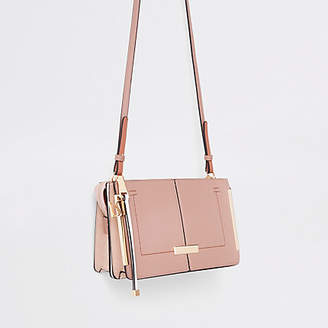 River Island Pink structured cross body bag