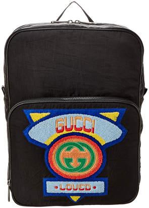 Gucci Medium 80'S Logo Backpack