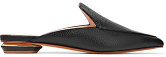 Nicholas Kirkwood Beya Textured-leather Slippers - Black