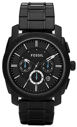 Fossil Mens Machine Black Dial Chrono Watch
