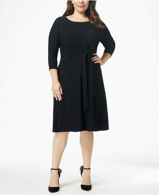 Taylor Plus Size A-line Self-Tie Dress