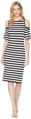 MICHAEL Michael Kors Stripe Off the Shoulder Dress Women's Dress