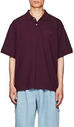Gosha Rubchinskiy Men's Embroidered Cotton Piqué Polo Shirt