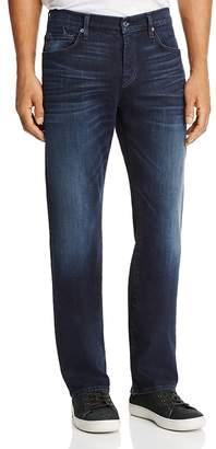 7 For All Mankind Carsen Dark Current Straight Fit Jeans in Dark Indigo