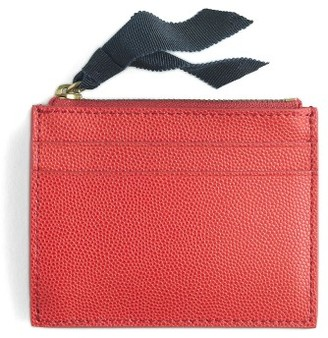 J.crew Small Leather Zip Wallet - Red $22.50 thestylecure.com